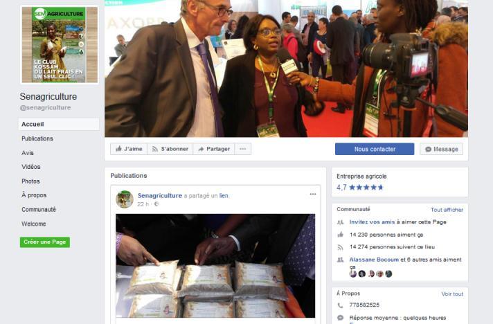 réseaux sociaux senagriculture, senagriculture Facebook, stratégie réseaux sociaux, réseaux sociaux agriculture, promotion agriculture