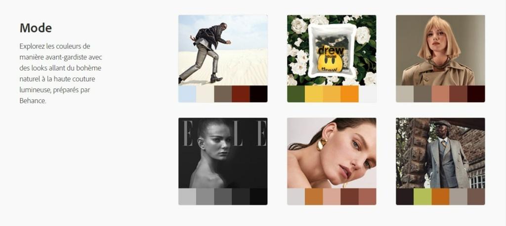 Adobe Color : Trouver la palette de couleurs sur une image