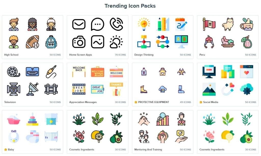 Flaticon.com : différents styles d'icônes à ajouter à vos visuels