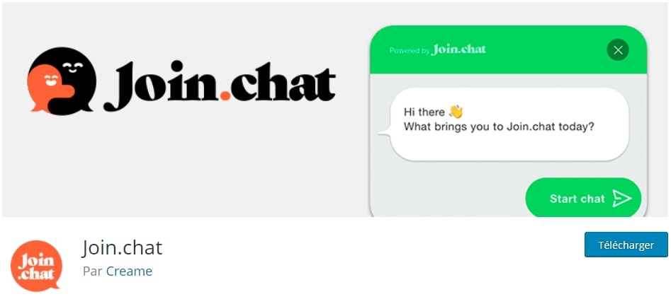 join chat plugin capture depuis wordpress.org
